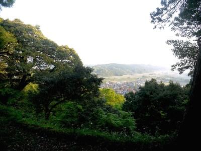 登城中の眺め