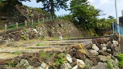 旧鳥羽小学校の石垣