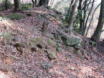 主郭の残存石垣