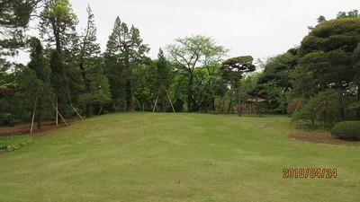 芝生の庭園