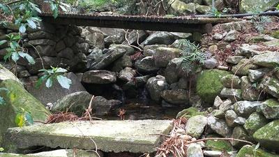 橋の下の石垣
