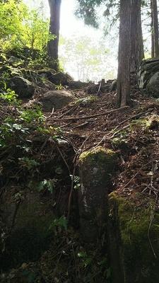石垣のある竪堀