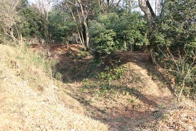 武蔵松山城二の郭から見る堀