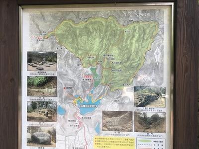 御所ヶ谷神籠石の全体位置図