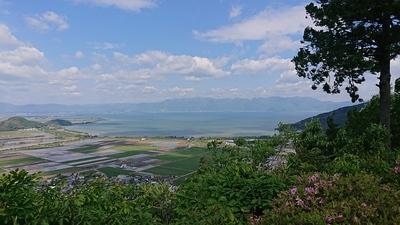 琵琶湖が綺麗にみえます。
