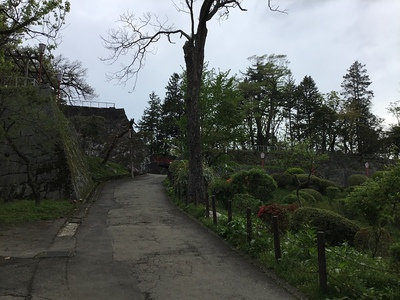本丸、二の丸石垣と渡雲橋