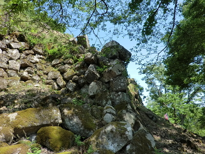 本丸西側の石垣