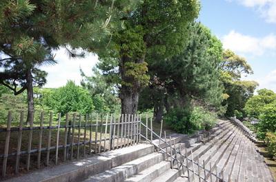 本丸西側の多門櫓跡