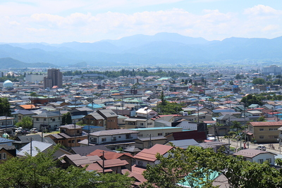 飯盛山から見た城下