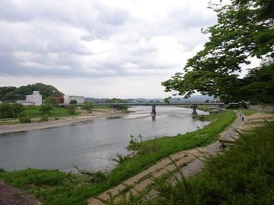 福島城址のそばを流れる阿武隈川