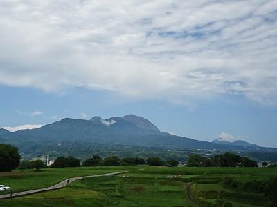 本丸跡からの眺望(雲仙普賢岳)