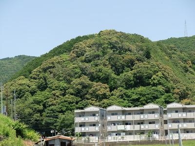 安宅本城址から望む日置八幡山
