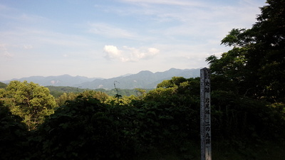 岩尾城 2の丸 眺望