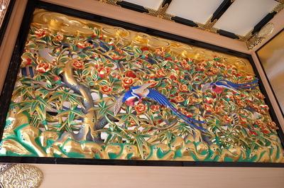 本丸御殿上洛殿の廊下にある欄間