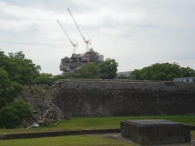 大小天守の再建(西側から)