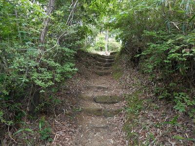 主郭への石段