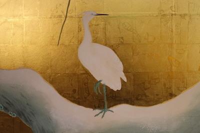 鷺之廊下の障壁画