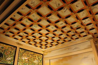 上洛殿二之間の格天井