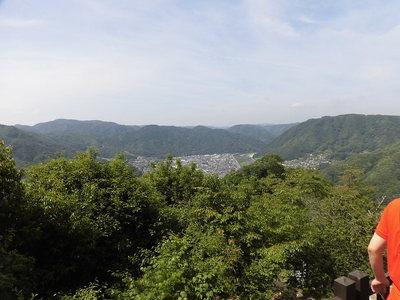 中太鼓の丸跡からの眺望