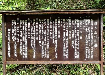 鈴木五代の墓 案内板