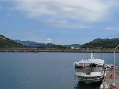クルーズ船と能島城