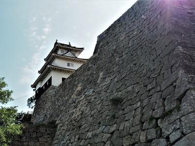 石垣と天守