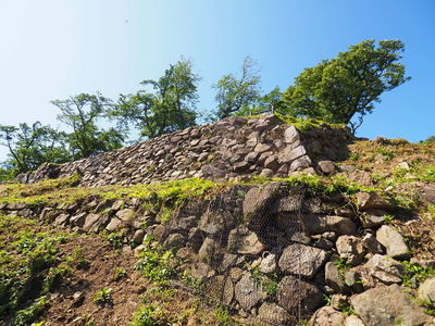 山上の丸石垣