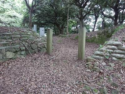 二の丸桝形虎口(搦手門跡)