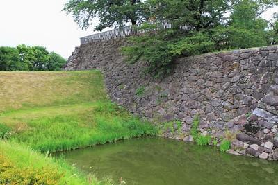 辰巳櫓石垣(南西側)と土塁