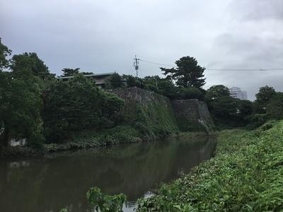 坤櫓、太鼓櫓跡の石垣