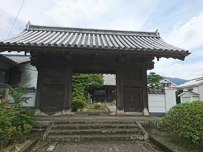 移築された水手御門 (寿本寺山門)①