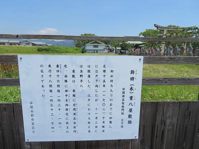 鈴田(木)重八屋敷跡
