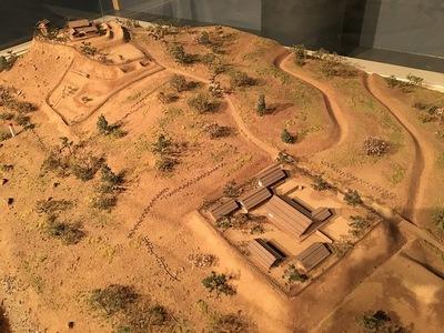 五ヶ所城のジオラマ