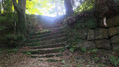 二の丸跡の石段