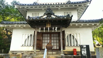 真浄寺に移築されている八幡台櫓(36.390547,140.258563)