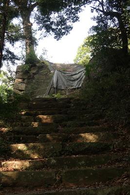 石階段と天主台