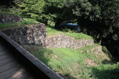 土塁石垣と竪堀