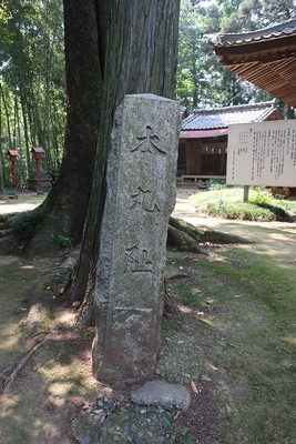 本丸阯の碑