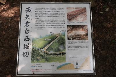 西矢倉台西堀切の説明板