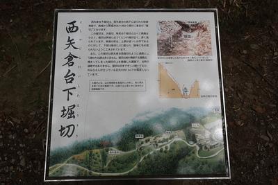 西矢倉台下堀切の説明板