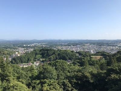本丸跡よりの眺望(二本松市街側)