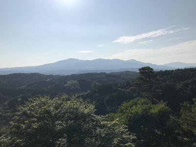 本丸跡からの眺望(安達太良山側)