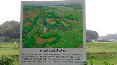 本佐倉城鳥瞰図