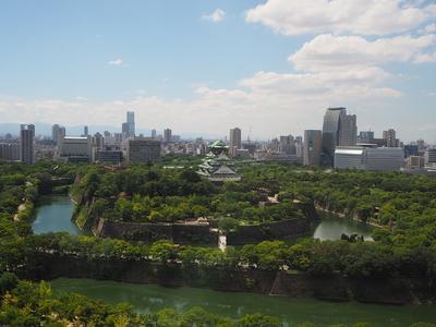 大阪城鳥瞰図①