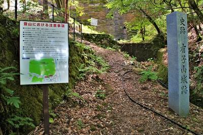 有子山登山口と石碑