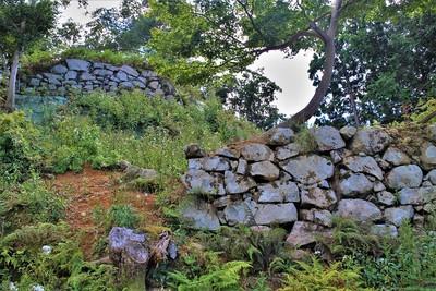 第5・第6曲輪の石垣(東側)