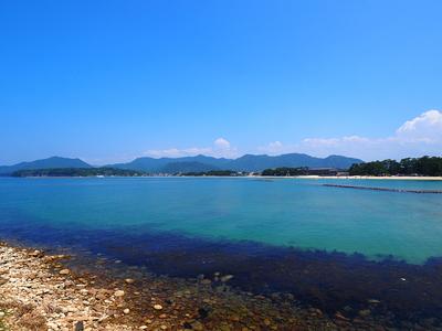潮入門跡から見る風景