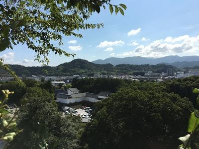 鐘の丸から見た佐和山城