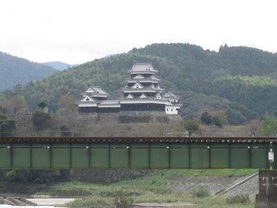 大洲城と鉄橋(阿蔵地区から)