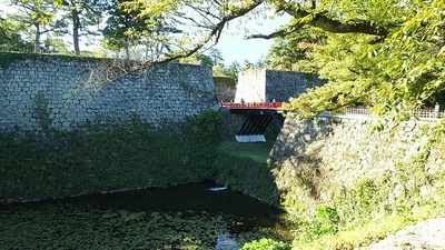 廊下橋門跡の高石垣